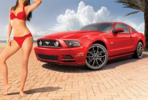 mystery sports illustrated model promotes 2013 ford mustang 8